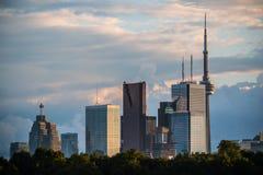 Toronto-Skyline keine Logos stockfoto