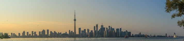 Toronto Skyline Late Afternoon Panoramic Royalty Free Stock Photography