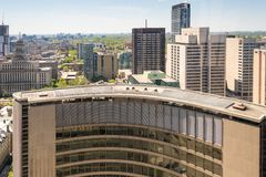Toronto Skyline: Looking East from New City Hall Stock Photography