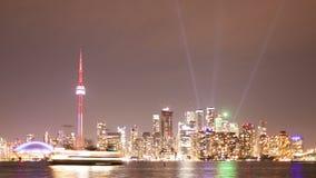 Toronto-Skyline nachts stock video