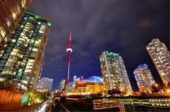 Toronto-Skyline nachts Lizenzfreie Stockfotos