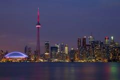 Toronto-Skyline nachts Stockbild