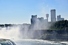 The Maid in Mist has cast herself on Tornotos Skyline at Niagra Falls, NY Stock Photography