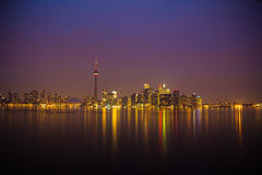 Toronto Skyline at night. The Skyline of Toronto, Ontario, Canada Royalty Free Stock Photo
