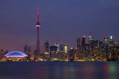 Toronto Skyline at night. Stock Image