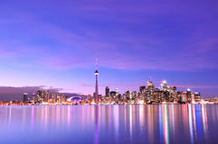 Toronto Skyline. At night, Canada Royalty Free Stock Photos