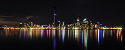 Toronto Skyline. At night , Canada Royalty Free Stock Images