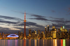Toronto skyline at night Royalty Free Stock Image