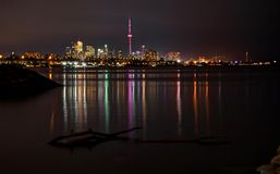 Toronto Skyline by Night Royalty Free Stock Images