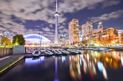 Toronto skyline at night Royalty Free Stock Photography