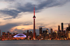 Toronto Skyline at night Stock Photography