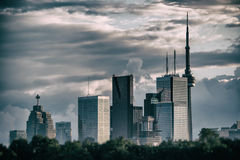 Toronto Skyline No Logos Silver Stock Images