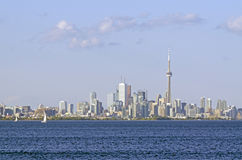 Toronto skyline from Ontario lake Royalty Free Stock Photography