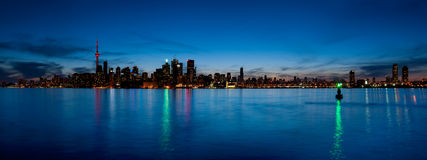 Toronto skyline panorama over lake Stock Photos