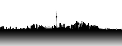 Toronto skyline panoramic. Toronto sky line panorama cutout Royalty Free Stock Images
