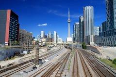 Toronto Skyline and Railway Royalty Free Stock Photography