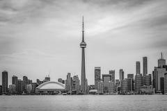 Toronto Skyline before rain - black and white Stock Photography
