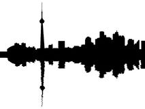 Toronto skyline reflected Royalty Free Stock Photos