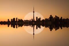Toronto-Skyline-Reflexion Lizenzfreie Stockfotografie