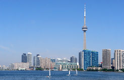 Toronto skyline with sailboats Royalty Free Stock Image