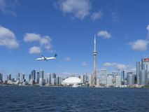 Toronto skyline, Canada seen from the ferry Stock Photo