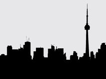 Toronto Skyline. Skyline silhouette of the city of Toronto, Ontario, Canada Royalty Free Stock Photo