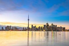 Toronto Skyline. On sunny day, Canada Stock Photos