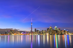 Toronto Skyline. On sunny day, Canada Royalty Free Stock Photos