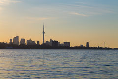 Toronto Skyline at Sunrise with Copy space Royalty Free Stock Photography