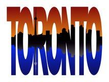 Toronto with skyline at sunset Stock Image