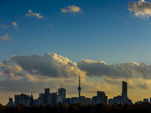 Toronto Skyline Sunset Silhouette Royalty Free Stock Images