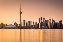 Toronto skyline at sunset Stock Photos