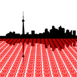 Toronto skyline with text Stock Photos