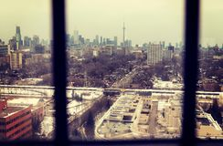 Toronto Skyline from the tower at Casa Loma Royalty Free Stock Photo