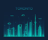 Toronto skyline trendy vector illustration linear Royalty Free Stock Photography