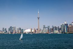 Toronto Skyline Under a Clear Blue Sky Stock Image