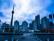 Toronto Skyline. A view of the Toronto Skyline from the harbour Royalty Free Stock Photos
