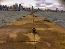 Toronto Skyline. A view of Toronto Island from a pier Royalty Free Stock Photo