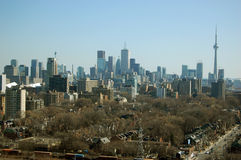 Toronto Skyline Viewed From Casa Loma Stock Photo