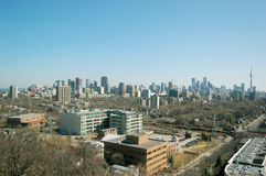 Toronto Skyline Viewed From Casa Loma Royalty Free Stock Image