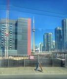 Toronto-Skyline vom Ontario See Stockfotografie