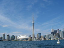 Toronto skyline waterfront. Skyline and waterfront of the city of Toronto, Canada Stock Photo