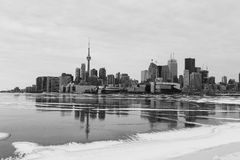 Toronto Skyline in the Winter from the East royalty free stock photography