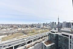 Toronto-Skylineansicht lizenzfreie stockfotos
