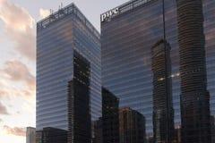 Toronto skyskrapor Arkivfoto