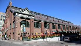 Toronto St Lawrence market. View of Toronto distillery district stock photo
