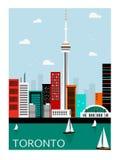 Toronto stad Kanada royaltyfri illustrationer