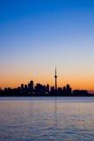 Toronto-Stadt-Schattenbild Stockfotos