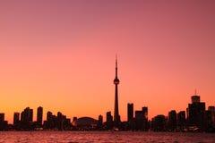 Toronto-Stadtbild von der zentralen Insel Stockbilder