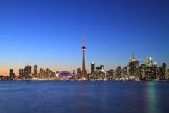 Toronto-Stadtbild von der zentralen Insel Lizenzfreie Stockbilder